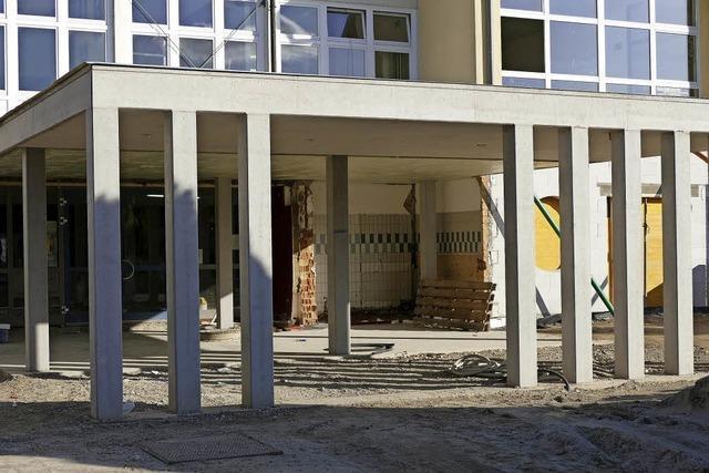 Der Umbau der Alemannenschule in Hartheim am Rhein hat sich verzögert