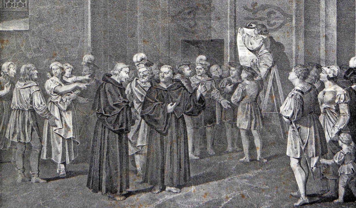 Martin Luthers Thesenanschlag an der W...atische Veränderungsprozesse in Gang.   | Foto: Sammlung Dreiländermuseum