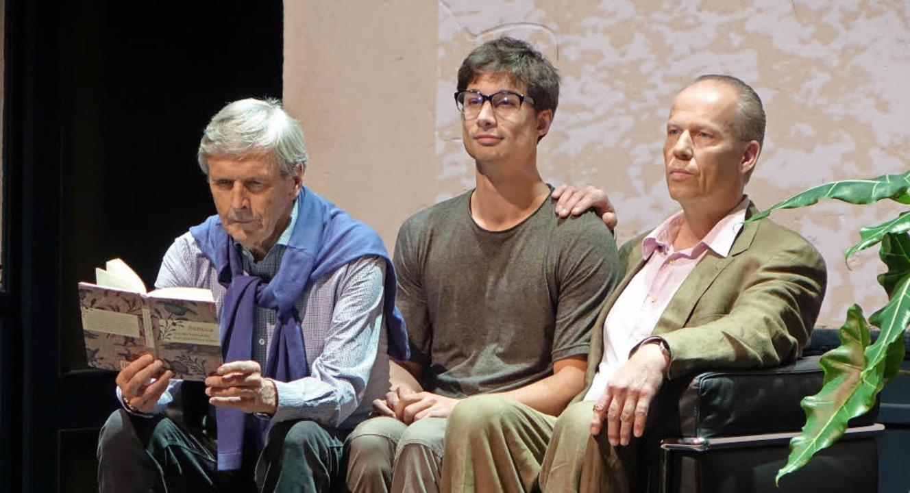 Helmut Förnbacher, Falk Döhler und Percy von Tomei (von links)   | Foto: Roswitha Frey