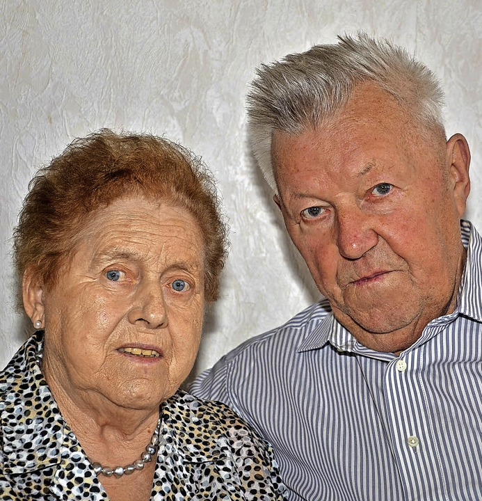 Forchheim. Herta und Fritz Weis können am Sonntag diamantene Hochzeit feiern.    Foto: Roland Vitt