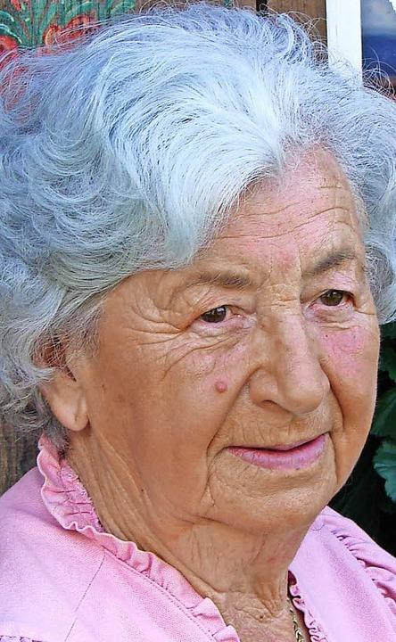 Irma Adrion wird heute, Samstag, 23. September, 90 Jahre.  | Foto: Christa Maier