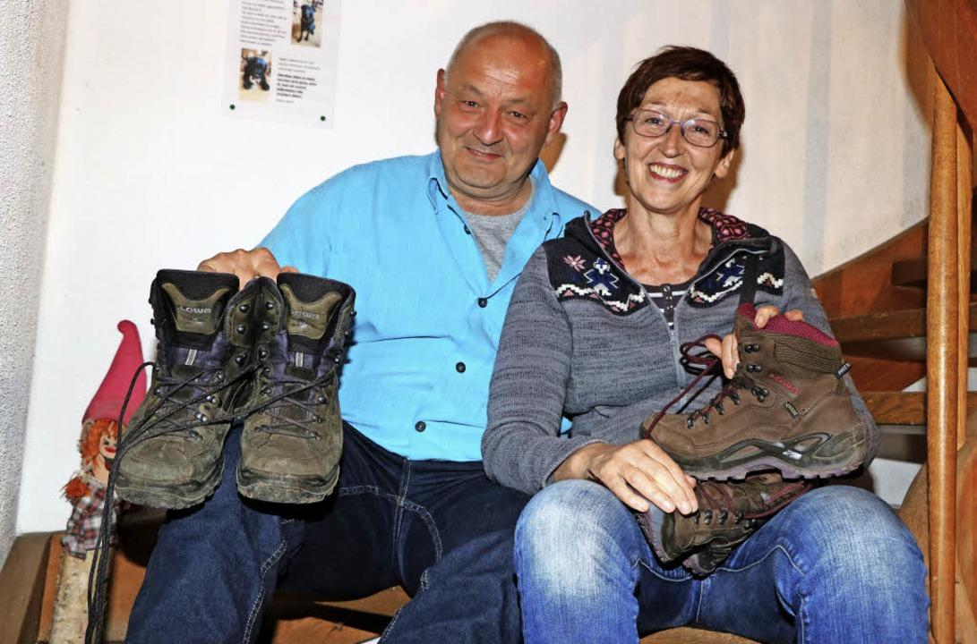 Monika und Martin Ebner aus Landsberg können  beim Wandern entschleunigen.    Foto: Martha Weishaar