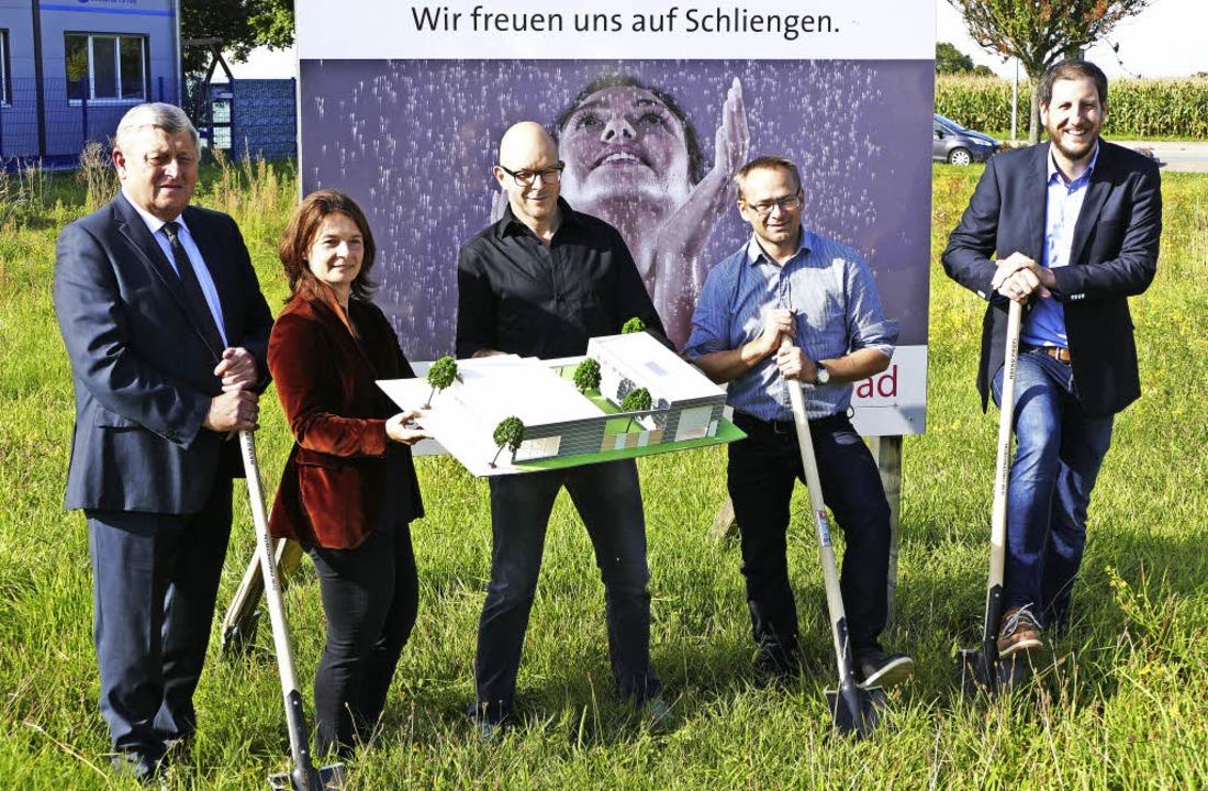 Spatenstich Firma Rekabad Gewerbegebiet Sonnenstück Schliengen  | Foto: Michael Behrendt