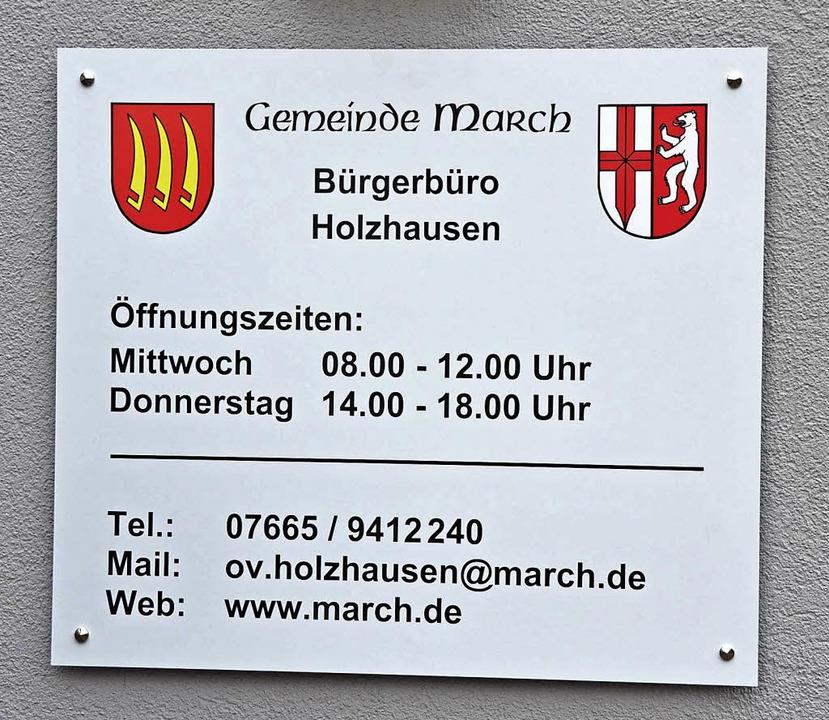 Wird Marchs Gemeindeverwaltung weiterh...s Büro geschlossen, es fehlt Personal.  | Foto: Frietsch