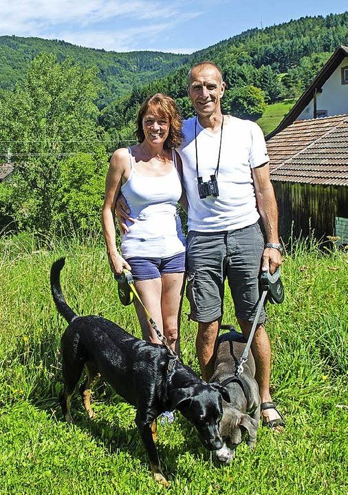 Willy Kayser und seine Frau Nicola kam...ereits zum fünften Mal nach Endenburg.  | Foto: Ralf Bürglin