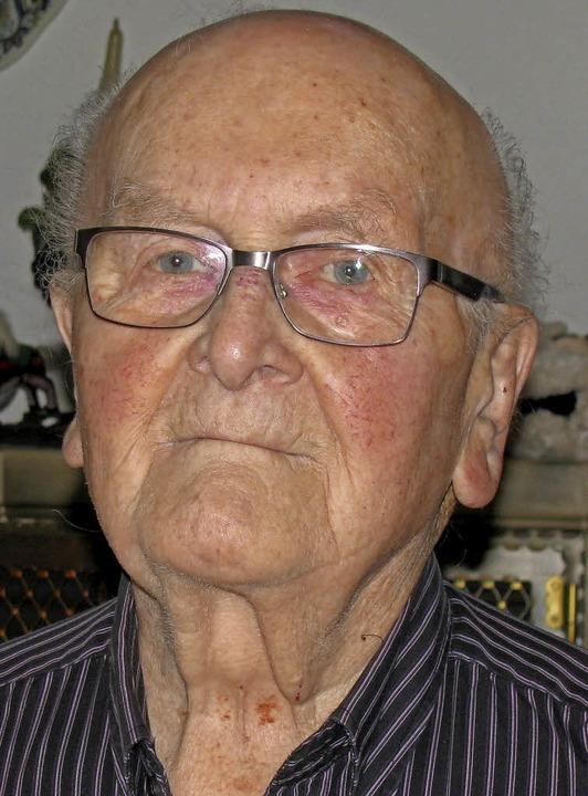 Erich Ruh ist 90   | Foto: Manfred Lange