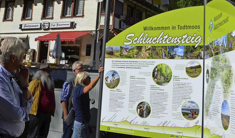Der neue Info-Stern in Todtmoos  | Foto: Christiane Sahli