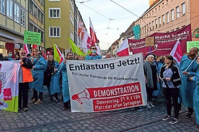 Demonstration gegen Pflegenotstand
