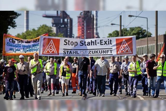 Protest gegen Stahlfusion