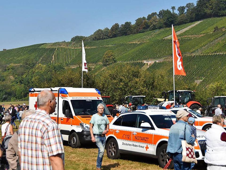 Mehrere Rettungswagen kamen auf das Festgelände.    Foto: Max Schuler