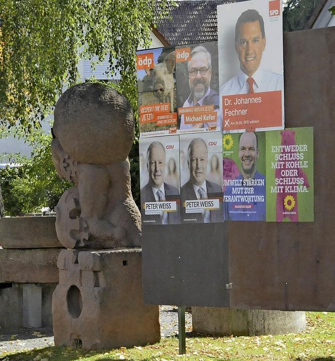 Der Sackträger hat anderes zu tragen a...lentscheidung - Wahlplakate Denzlingen  | Foto: Markus Zimmermann