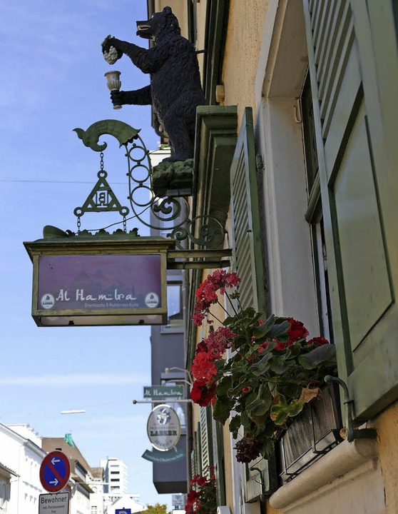 """Seit Mai in Lörrach: das Restaurant &#...emaligen """"Schwarzen Bären""""    Foto: Peter Gerigk"""