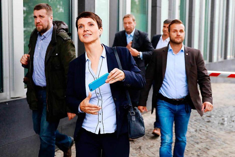 12,6 Prozent hat die AfD geholt – für die rechtspopulistische Partei ist das ein gutes Ergebnis. (Foto: AFP)