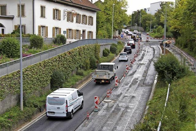 Kantonstraße in Rheinfelden nur einspurig befahrbar