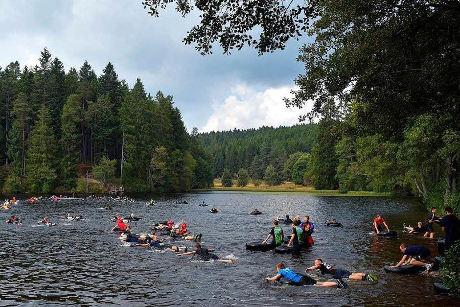 """Sportliche und körperliche Herausforderungen gab es beim """"Mudiator"""" in Rothaus genug. (Foto: Wolfgang Scheu)"""