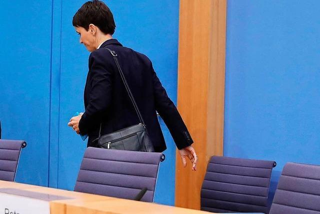 Frauke Petry kehrt der AfD-Fraktion den Rücken