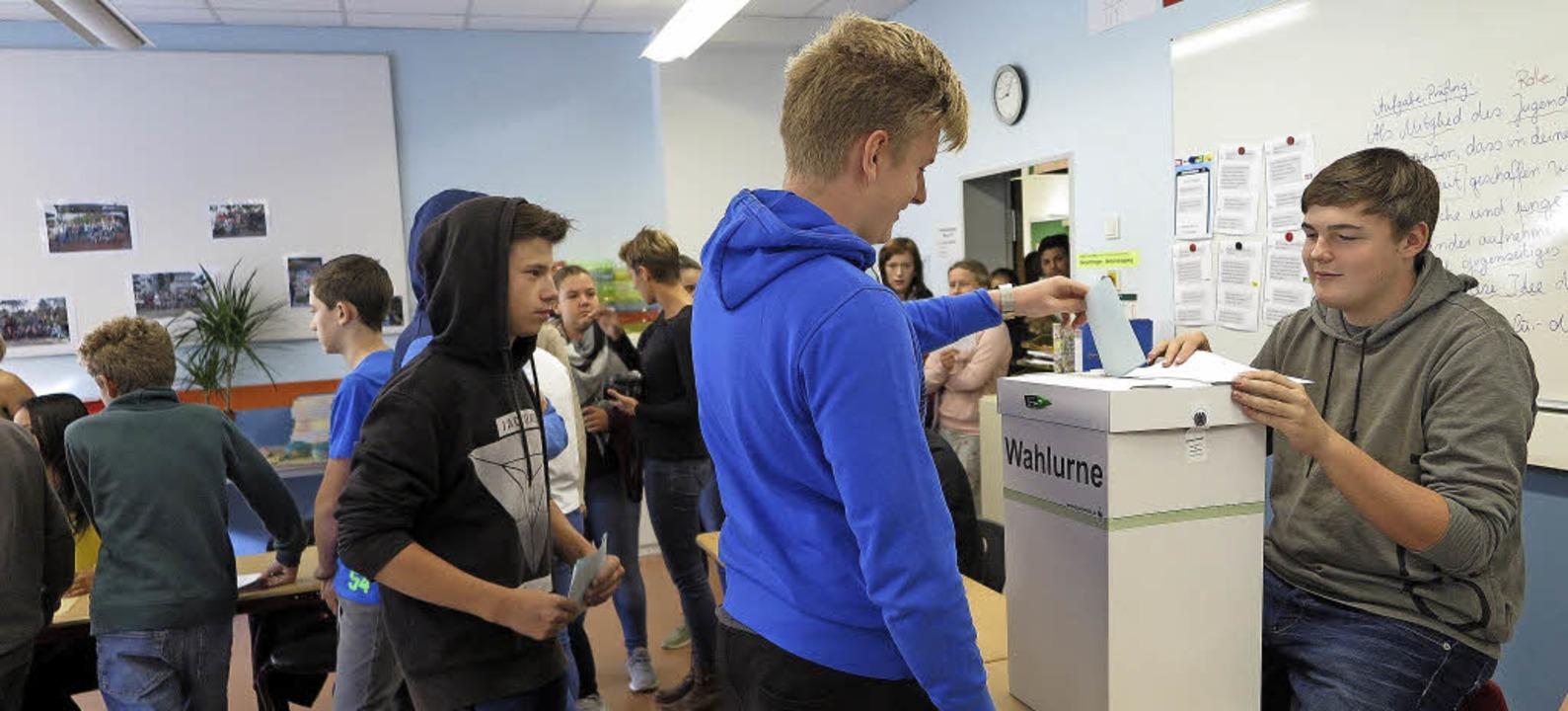 Wählen wie die Großen: Juniorwahl in der Schliengener Hebelschule  | Foto: Dorothee Philipp