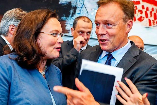 Andrea Nahles wird zur Chefin der SPD-Fraktion gewählt