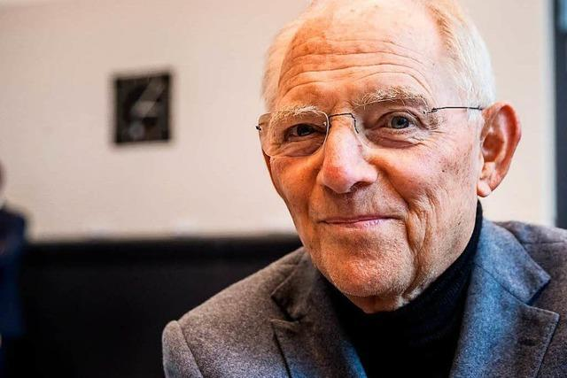 Wolfgang Schäuble soll Bundestagspräsident werden