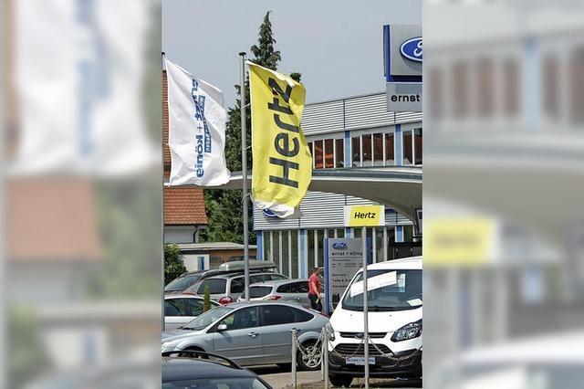 Autovermietung Hertz zieht nach Friedlingen um