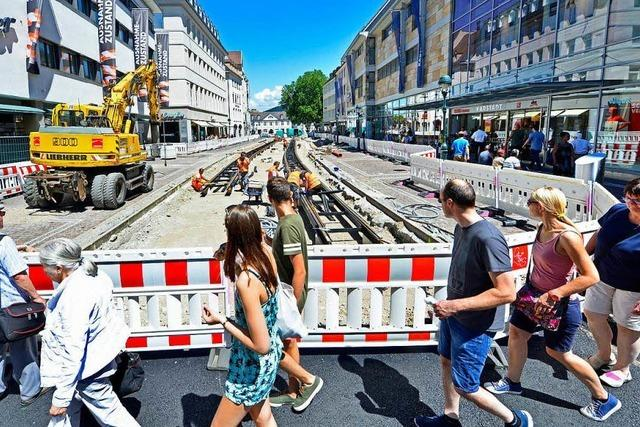 Großbaustelle in Freiburger KaJo im November fertig – Bahn fährt erst wieder ab Dezember