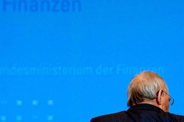 Schäuble nimmt Abschied vom geliebten Finanzressort
