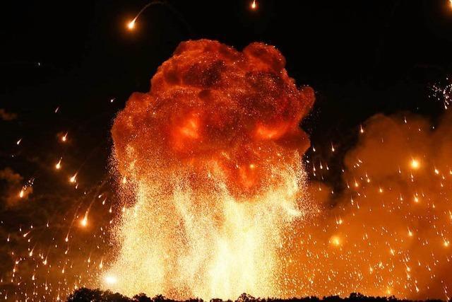 Munitionslager steht in Flammen – war es Sabotage?