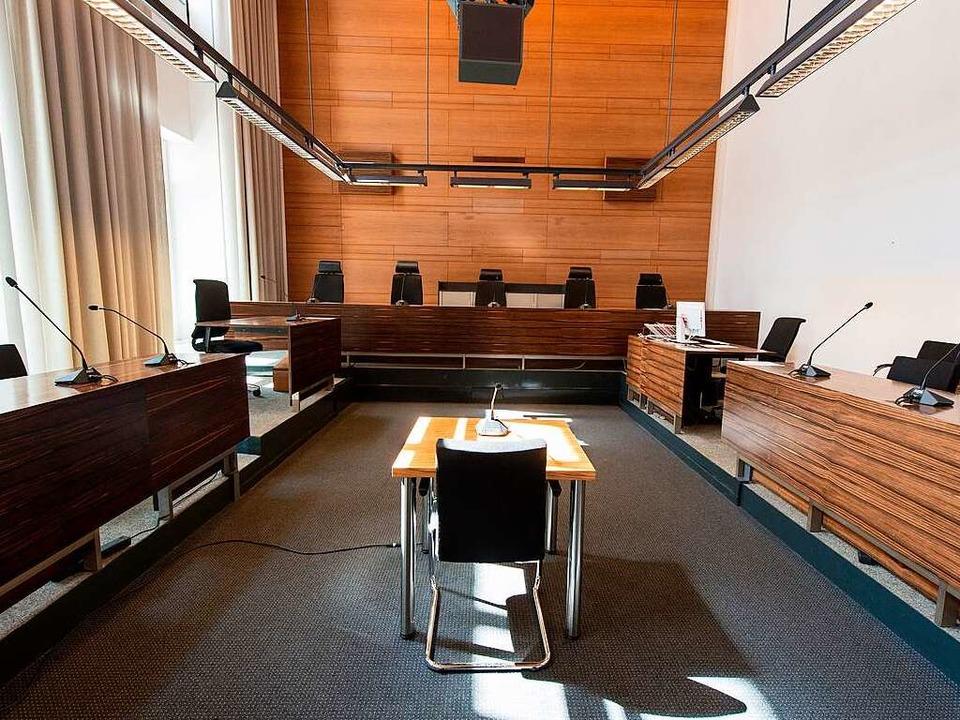 Der Prozess gegen Hussein K. findet am Freiburger Landgericht statt.  | Foto: dpa