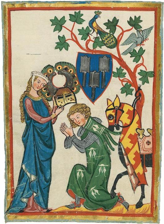 Die unerreichbare Frau und ihr Verehrer:  mittelalterliche Miniatur   | Foto: bz