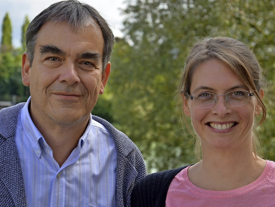 Dieter Scheibler und Valeska Rüsch wer...r Eltern in Trennung zusammen leiten.   | Foto: Christiane Weishaupt