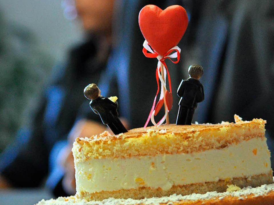 Eine romantische Hochzeit mit allem Dr...h viele gleichgeschlechtliche Paare.    | Foto: Ruda