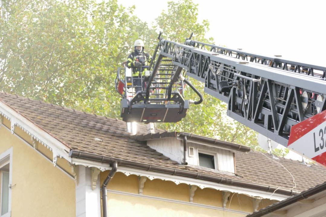 Schnell unter Kontrolle war ein Feuer in der Lörracher Innenstadt  | Foto: Willi Adam
