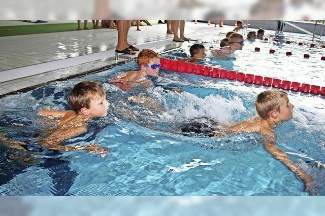 Mächtig Gedrängel im Schwimmerbecken