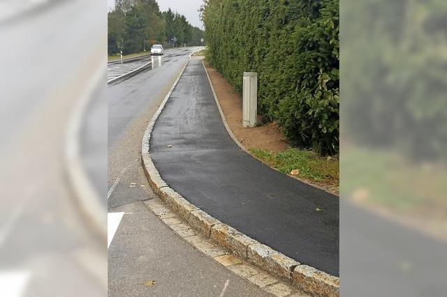60 Meter Gehweg machen es Fußgängern leichter