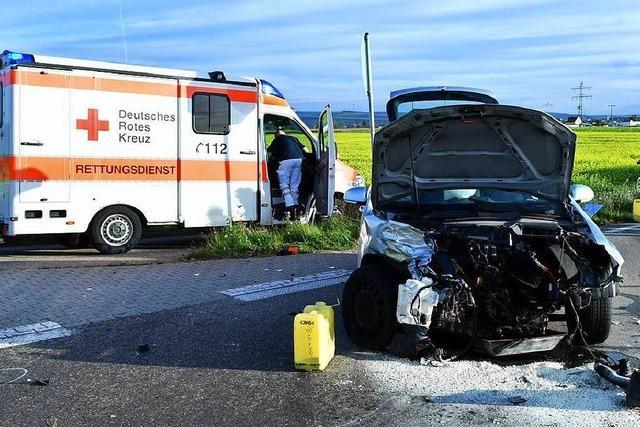 Vier Verletzte bei Unfall zwischen Lahr und Ichenheim