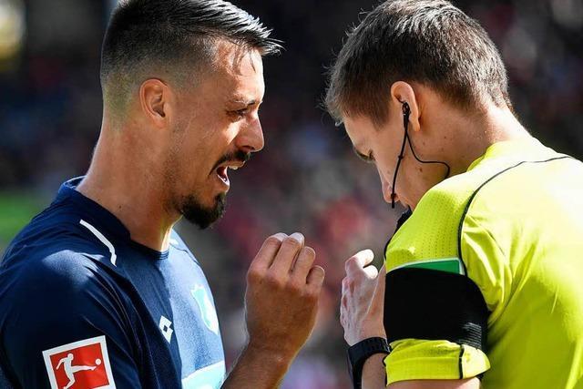 Spuckattacke gegen Sandro Wagner im Freiburg-Spiel – Polizei ermittelt
