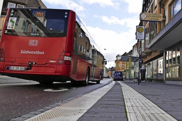 Weitere Bushaltestellen werden barrierefrei