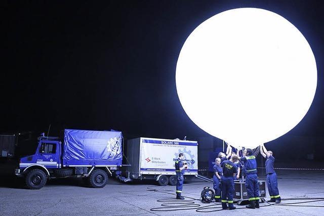 Der Heliumballon ist der Höhepunkt