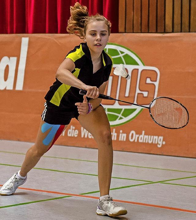 <BZ-FotoAnlauf>Badminton:</BZ-FotoAnla...r in Freiberg dreimal in den Top-Fünf.  | Foto: Bernd Bauer