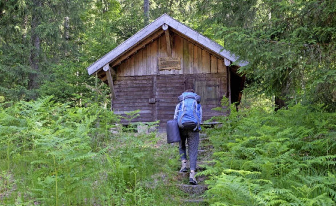 Geheimer Ort: das GPS-Gerät führt uns zur Hütte    Foto: Yvonne Weik