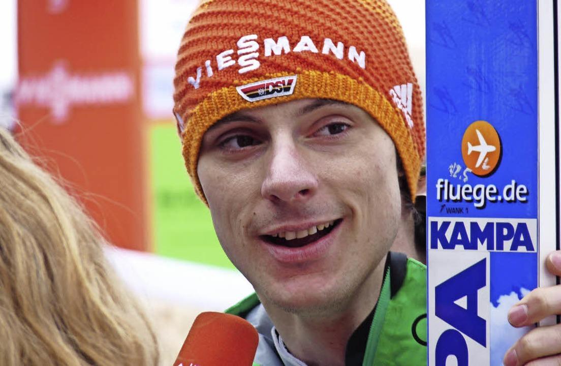 Einfach lächeln und weitermachen: Skis...korea seinen olympischen Traum leben.   | Foto: bachmann