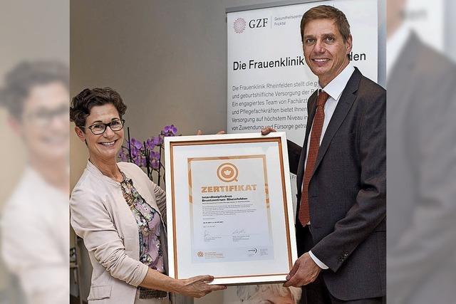 Zertifikat für Brustzentrum verliehen