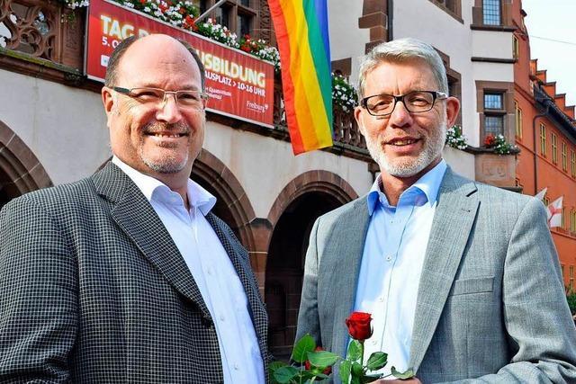 In Freiburg wurden erstmals zwei Männer getraut