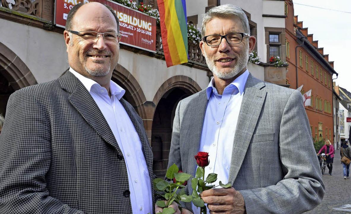 Nicht mehr nur quasi verheiratet: Jörg Krause (links) und Andreas Wand  | Foto: Michael Bamberger