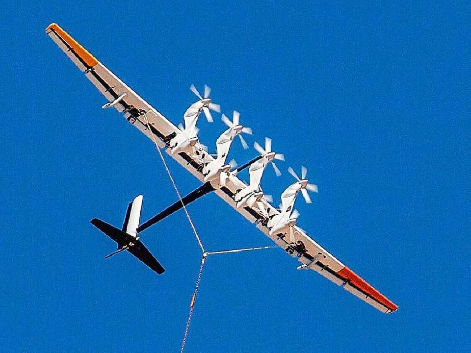 Windenergie in luftiger Höhe erzeugt d...hungsabteilung des US-Konzerns Google.  | Foto: bz