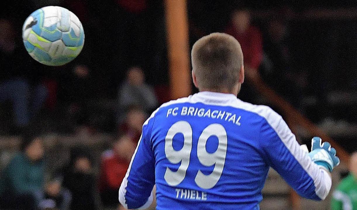 Rückhalt: Torhüter Marcel Thiele vom FC Brigachtal    Foto: scheu