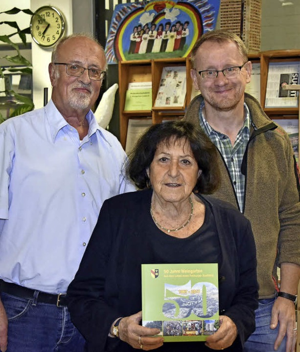Drei aus der Arbeitsgruppe Geschichte ...inger und Hermann Assies (von links).   | Foto: Michael Bamberger