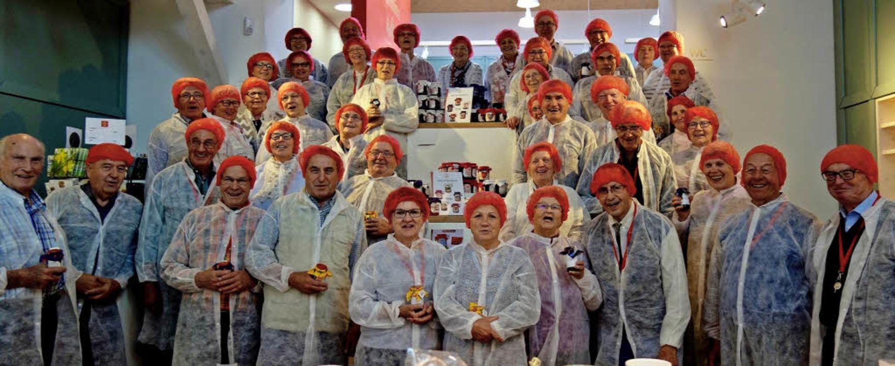<BZ-FotoAnlauf>CDU-Senioren </BZ-FotoA...gen beim Konfitürenhersteller Faller.     Foto: Privat