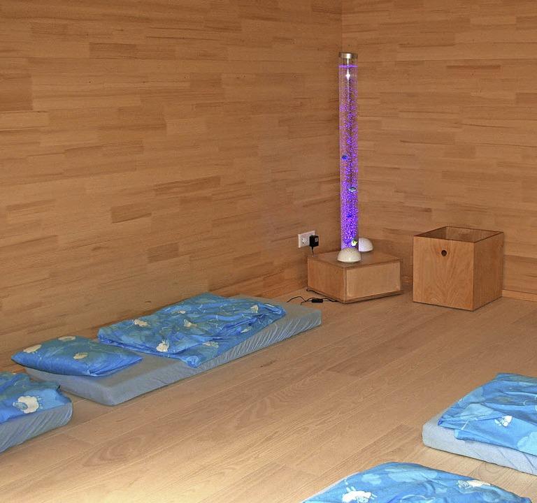 Der Schlafraum mit Lichtsäule    Foto: Marlies Jung-Knoblich