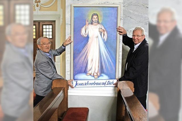 Künstler schenkt Kirche Jesusbild